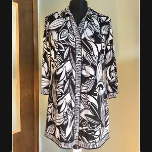 Cute Black & White Dress/Shirt - XL